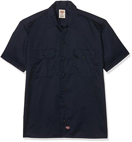 Dickies Herren Regular Fit Freizeit Hemd Shrt/S Work Shirt, Kurzarm, Blau (Dark Navy DN), Gr. XXX-Large (Herstellergröße: 3XL)