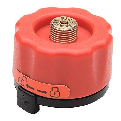 JUSTDOLIFE Gas Adapter Metall Propan Herd Adapter Propan Tank Adapter für Camping Kocher (Campingkocher Propan-tank Für)