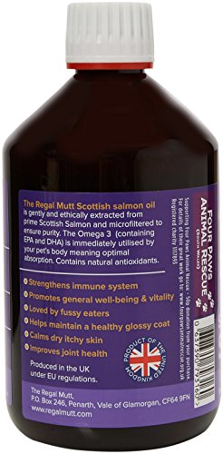 The Regal Mutt Scottish Salmon Oil For Dogs, Cats, Horses, Ferrets & Pets - 100% Pure Premium Food Grade - Natural Omega… 4