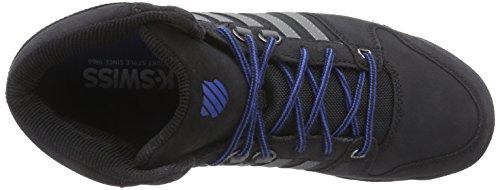 K-Swiss Si-18 Premier Hiker, Sneakers basses homme Noir - Schwarz (Black/Nautical Blue 079)