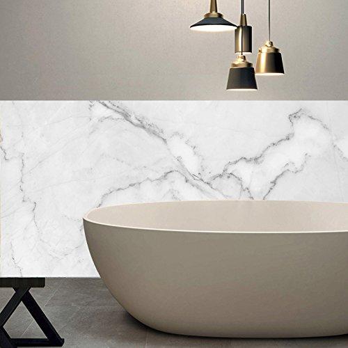 apsoonsell Granit Marmor Effekt Tapete Selbstklebende Peel Stick Rolling Sticker Wand Aufkleber für Küche Badezimmer Tisch Hintergrund Dekoration (Marmor Backsplash Küche)