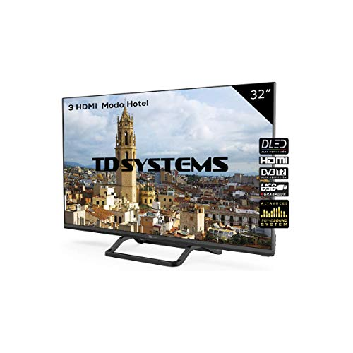 Televisor Led 32 Pulgadas HD, TD Systems K32DLX9H. Resolución 1366 x 768, 3X HDMI, VGA, USB Reproductor...