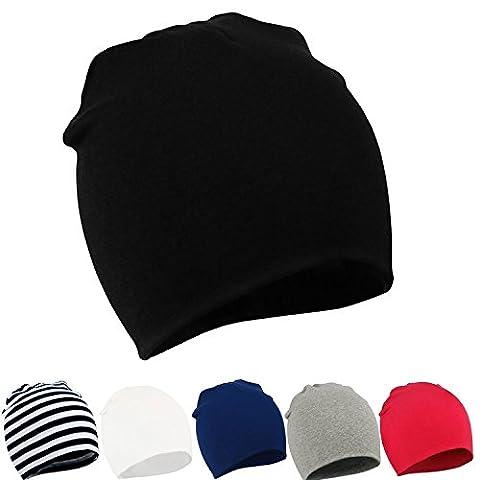 zando pour bébé Enfants Enfants Casquette coque souple Lovely Knit Hat Bonnet pour homme en coton - - taille unique