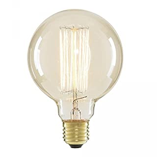 akldigital Old Fashioned Edison Style Light Bulb Filament Glob Large Size E27 Screw