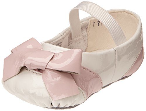 (Bloch Mädchen Fiochetta Krabbel-& Hausschuhe, Blanc (White/Baby Pink), 18 EU)