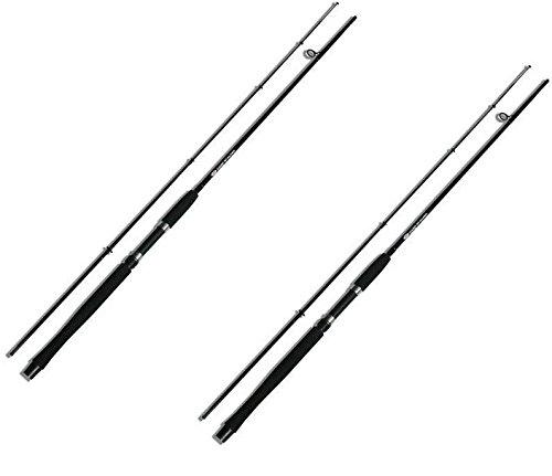 NGT–Unisex FR-F camuflaje stalker-8ft, 2pieza carpas acechar caña de pescar, Negro, 8m/2,4m