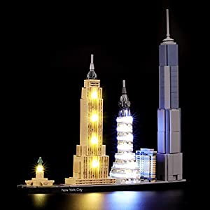 BRIKSMAX Kit di Illuminazione a LED per Lego Architecture New York City, Compatibile con Il Modello Lego 21028… 0716852280186 LEGO