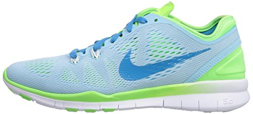 Nike Free 5.0 Tr Fit 5, Chaussures de  Football mixte adulte Bleu (Stll Blue/Bl Lgn-Flsh Lm-White)