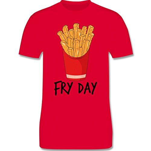 Shirtracer Statement Shirts - Fry Day - Pommes Frites - Herren T-Shirt Rundhals Rot