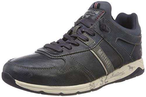 Mustang Herren Schnürhalbschuh Sneaker, Blau (Navy 820), 41 EU
