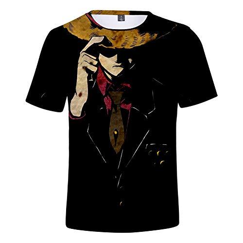 JlLianT Anime Cosplay 3D T-Shirt Rundhals Unisex Kurzarm-Shirt Jack Skellington XXL