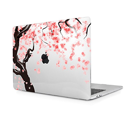 TwoL Carcasa MacBook Air 13,Flores de Cerezo Plástico Funda Dura para MacBook Air 13 (A1466/A1369) (Transparent)