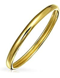 Bling Jewelry 14K Yellow Gold Band Chic Stackable Ring