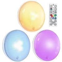 Oria Touch-Licht Nachtlicht mit Fernbedienung, RGB Schrankleuchten Schrank Licht, Dimmbar LED Unterbauleuchten Wandbeleuchtung mit 3M Doppelseitiges Klebeband & Schrauben,Ideal für Flur, Schlafzimmer
