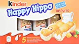 Kinder Happy Hippo Hazelnut and Cream, 5 Individually Wrapped Biscuits, Pack of 10 boxes (Total of 50 Biscuits)