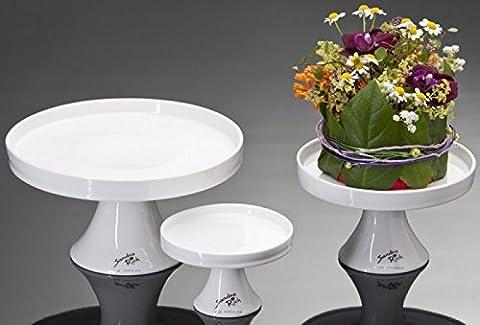 footed porcelain bowl CAKE round white Ø11cm