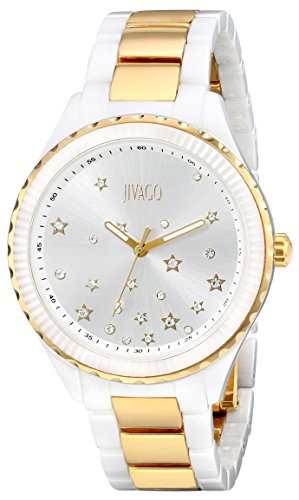 Jivago Women's JV2416 Sky Analog Display Swiss Quartz Two Tone Watch