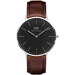 Daniel Wellington Reloj Analógico para Unisex de Cuarzo con Correa en Cuero DW00100131