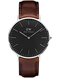 Daniel Wellington Classic Herren-Armbanduhr Analog Quarz Leder - DW00100131
