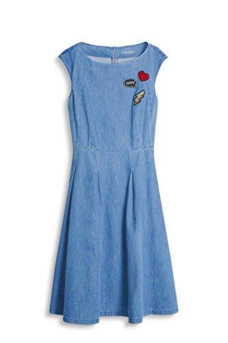 edc by ESPRIT Damen Kleid Blau (Blue Medium Wash 902)