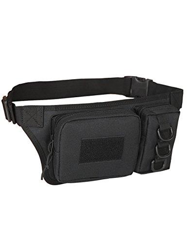 CUKKE Multipurpose Taktische Tasche Gürtel Taille Pack Tasche Military Taille Fanny Pack Telefon Tasche Gadget Geld Tasche Grün Schwarz