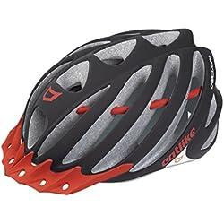 Catlike Vacuum Casco de Ciclismo, Unisex adulto, Multicolor (Black -Red matt), LG/58-60 cm