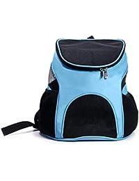 0362beb0e PETCUTE Portador de Mascotas Mochila Bolsa para los Pequeños Gatos y Perros  Diseño Ventilado Bolsa de