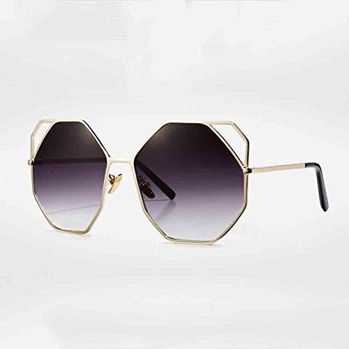 BAIYICHEN Sonnenbrillen für Damen Frauen Persönlichkeit Mode Katze Augen Hohl Metall Sonnenbrille Gläser Sonnenschutz (Farbe : Gold/Gradient)