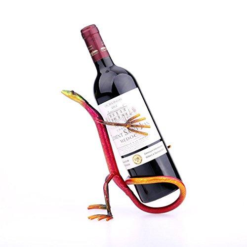 Weinzahnstangen Cabinet, Metall dekorative Farbe Gecko für Home Decor Weihnachten Geburtstag Danksagung Geschenk (Weihnachts-gecko)