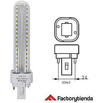 Lámpara Downlight LED G24 9 watios(equivalente a 90 watios), 920Lumen Luz Cálida