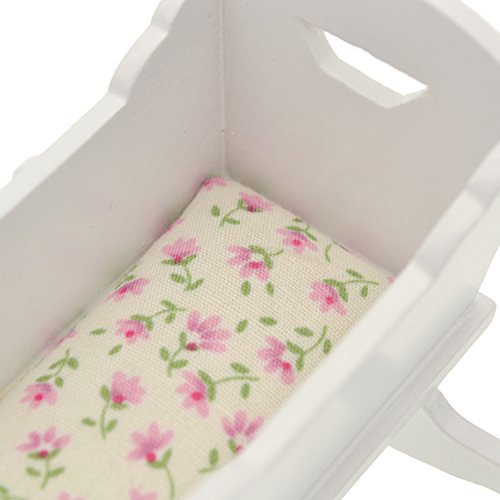 YNuth Mini Letto Bambole in Legno Miniatura Accessori per Bambina Casa Doll Bed Regalo Bambina Bianco