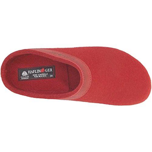 Haflinger, Pantofole donna Rosso (Rubin)