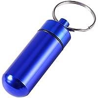 Reise Pillendose Wasserdichte Mini Keychain Tablet Aufbewahrungsbox Medizin Parfüm Container Blau preisvergleich bei billige-tabletten.eu