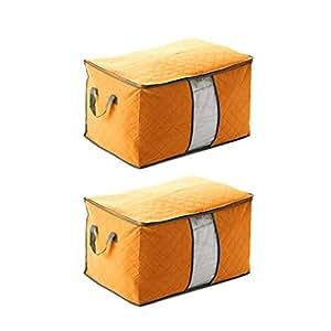 2 anten sac de rangement sac de stockage couverture v tement housse de couette organisateur. Black Bedroom Furniture Sets. Home Design Ideas