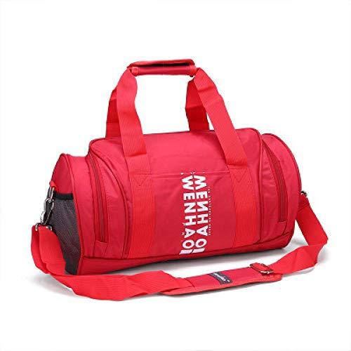 Qsfdhifdr Borse Sport Borse fitness Borse allenamento Borse a spalla cilindriche Borse yoga@Rosso senza scarpe_medio