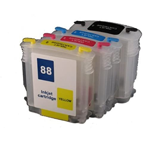 1 X Refillable ink cartridge 88 88XL for HP officejet pro K550DTWN L7500 L7400 K8600 L7580 L7590 L7550 L7750 L7780 K550 PRINTER by