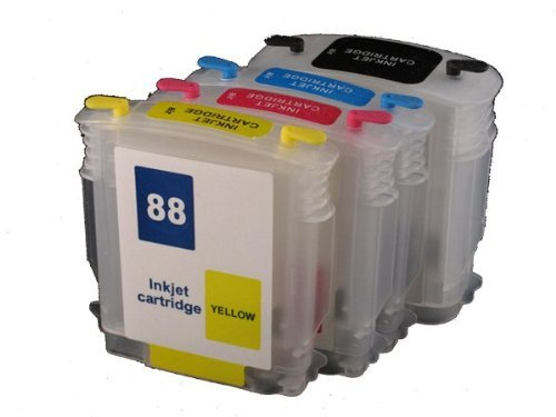 Preisvergleich Produktbild 1 X Refillable ink cartridge 88 88XL for HP officejet pro K550DTWN L7500 L7400 K8600 L7580 L7590 L7550 L7750 L7780 K550 PRINTER by inkrefillable
