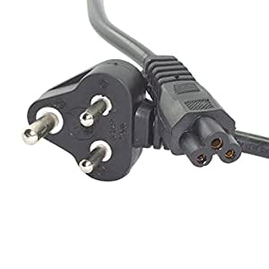 Cable Hunter 1.5 meter 3 Pin Power Cord for Laptops (Black)