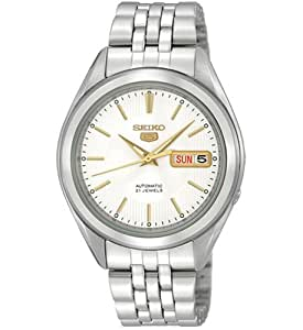 Seiko snkl17k 1-5 Gent's Automatic Watch Analogue Watch-Grey Face-Grey Steel Bracelet