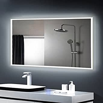 anten miroir led lampe de miroir clairage salle de bain miroir lumineux solide de verre tremp. Black Bedroom Furniture Sets. Home Design Ideas