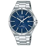 Pulsar Herren Analog Solar Uhr mit Edelstahl Armband PX3139X1
