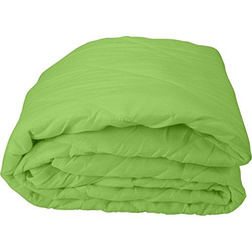 WOMETO federleichtes Sommer-Steppbett Steppdecke Bettdecke Leichtsteppbett (für Camping) ca. 700g, 135x200cm, OekoTex 100, - Grüne Bettdecken