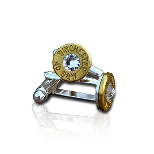 Bullet Manschettenknöpfe (Gold) mit Herren Steampunk Hunter Gun