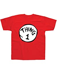 Postees Thing 1 Inspired by Cat in The Hat Adults & Kids T-Shirt