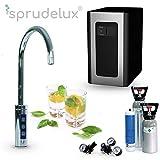 Untertisch-Trinkwassersystem SPRUDELUX BLUE DIAMOND inklusive 3-Wege-Zusatzarmatur. Profi-Wassersprudler für den Privathaushalt. Spritziges Mineralwasser / Sprudelwasser direkt aus der Küchenarmatur