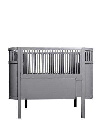 *Mitwachsendes Kinderbett (Junior- & Babybett) Kili, Sebra Design, dark grey*