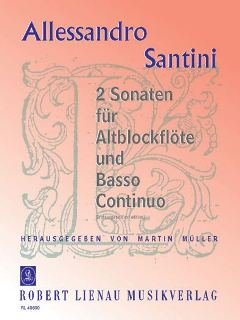 Zwei Sonaten: Sonata quarta und Sonata quinta. Alt-Blockflöte und Basso continuo. Klavierauszug mit Solostimme.