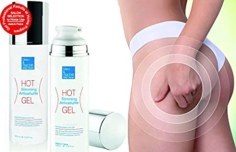 Professional Triple Action Formula Hot Gel ● Slimming Fat Dispersing, Anti Cellulite Detox Hot Gel with Algae, Coffee, Plants Extracts and Essential Oils ● Slims & Reduces Fat Appearance - Muscle Rub Gel