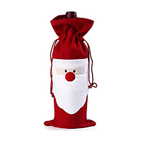 Megadream® 10PC Christmas Santa Claus Wine Bottle Cover Bags Home Party (Animated Christmas Decor)