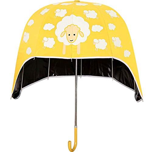 RZJ-umbrella Regenschirm Regenschirm Typ Hut Regenschirm schwarz Kunststoff Sonnenschirm Uv Helm Regenschirm,Yellow (Schwarzen Regenschirm Hut)